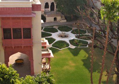 Hotelhave i Pali. Rajasthan