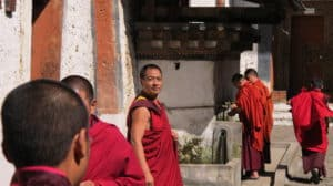 Munke i Bhutan
